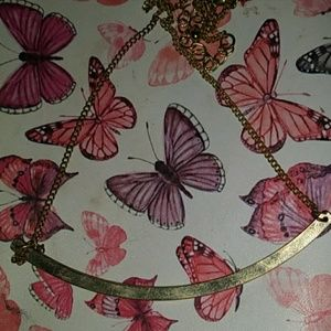 Necklace gold/ pink and gold